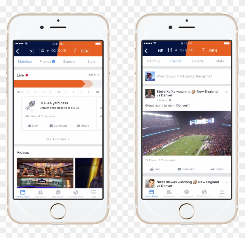 Facebook Sports Stadium's Tabs For Live Matchup And - Facebook Sports Stadium Clipart #79521