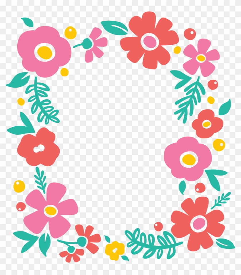 Floral Frame Png Flower Border And Frame Clipart 79777 Pikpng