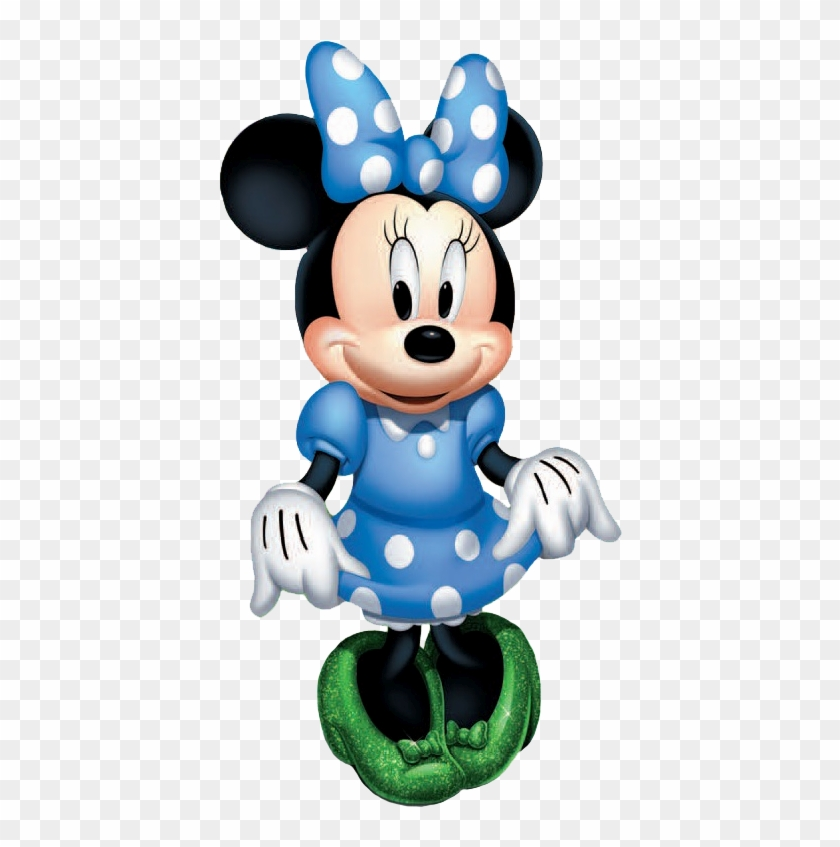 Disney On Ice Mickey And Gang In A Boat - Minnie Mouse With Blue Bow Clipart #702568