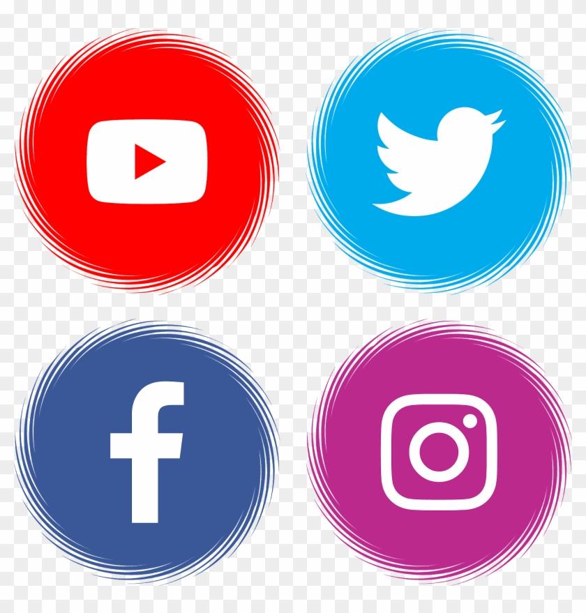 Download Youtube Facebook Twitter Instagram Svg Eps - Logotipo Facebook Instagram Whatsapp Clipart #706384
