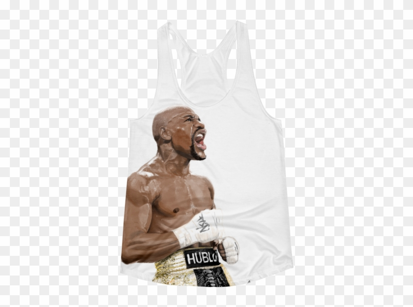 Mayweather Painted Women's Racerback Tank - Active Tank Clipart #715130