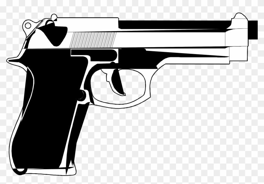 Vector Transparent Shooting Clipart Police Gun - Hand Gun Cartoon - Png Download #715387