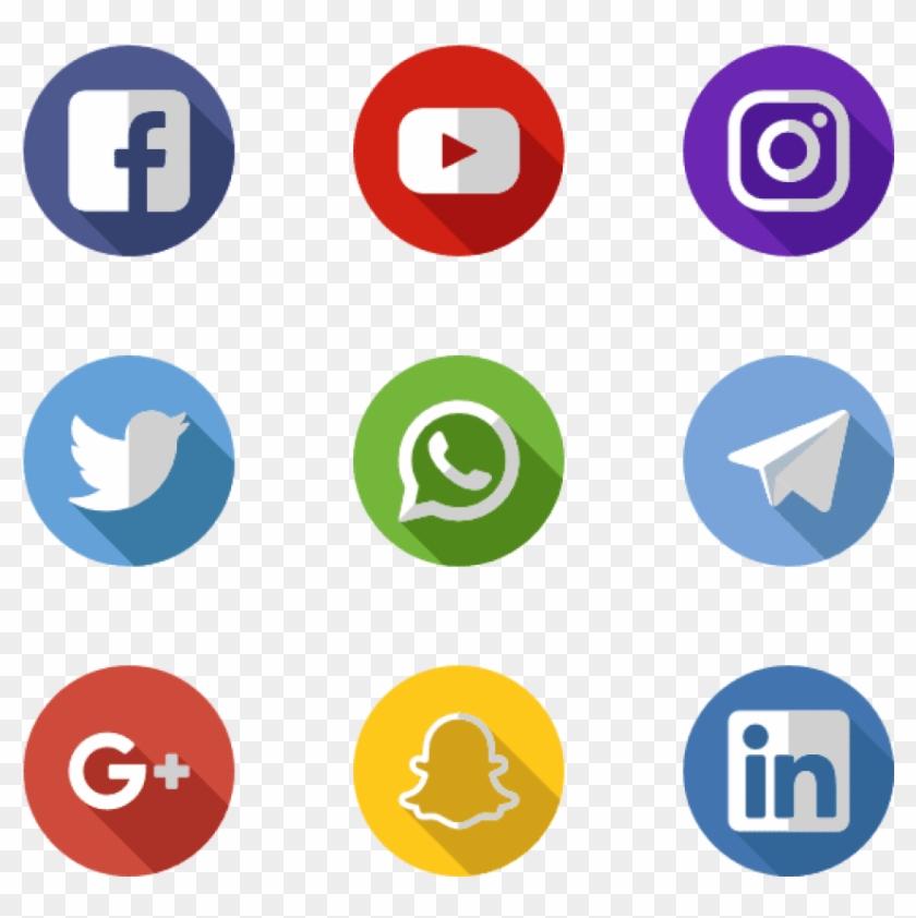 Free Png Download Social Media Apps Png Images Background - Social Media Logos Orange Clipart #724848