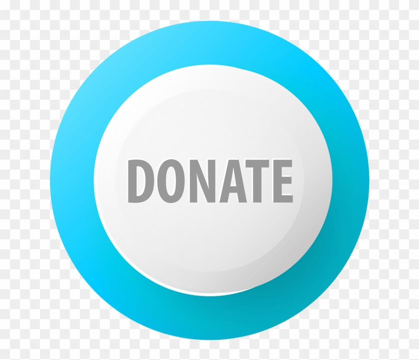 Donate Blue And White Button - Circle Clipart #726582