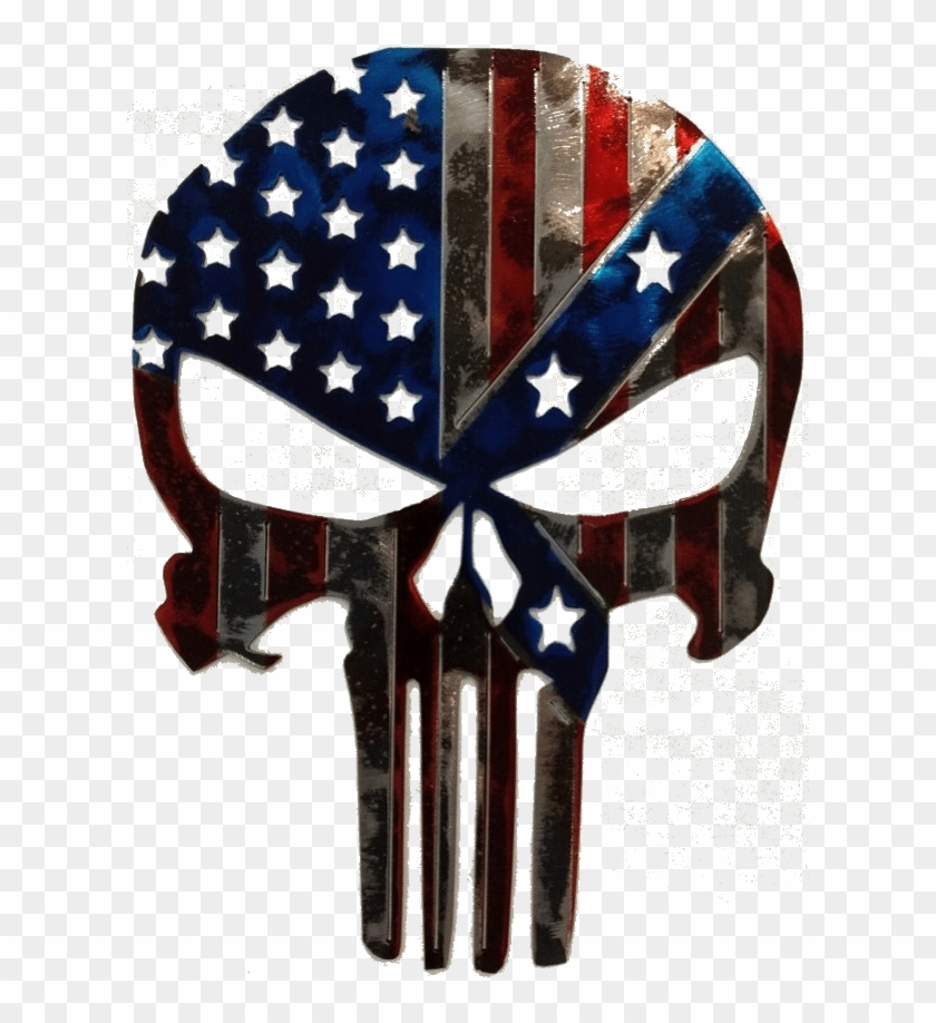 Punisher American/confederate Flag