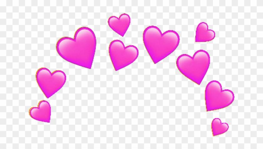 Pink Sticker - Blue Heart Emoji Crown Clipart #728456