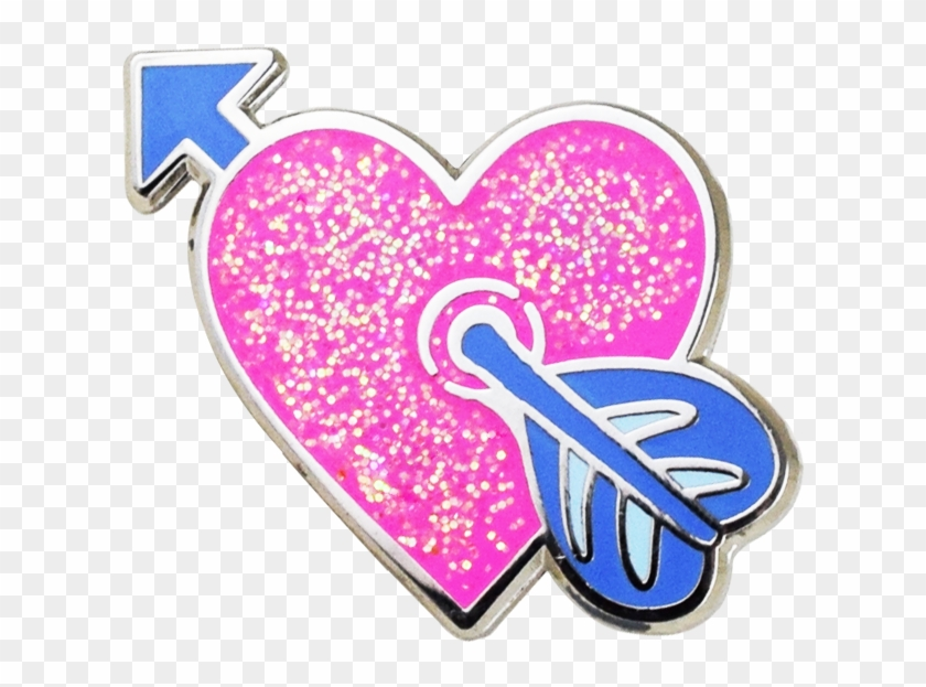 Heart With Arrow Emoji Pin Clipart #729034