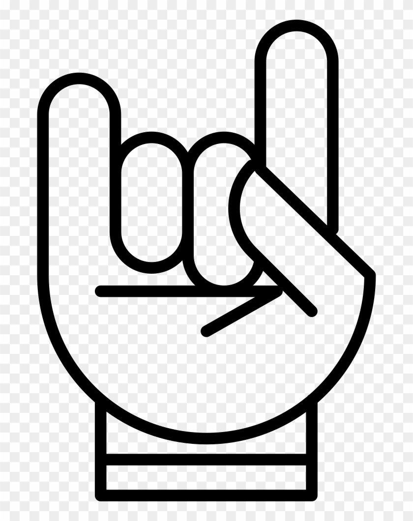 Hand With White Outline Forming A Rock On Symbol Comments Rockstar Hand Sign Png Clipart 729466 Pikpng Hands clipart black and white. rockstar hand sign png clipart