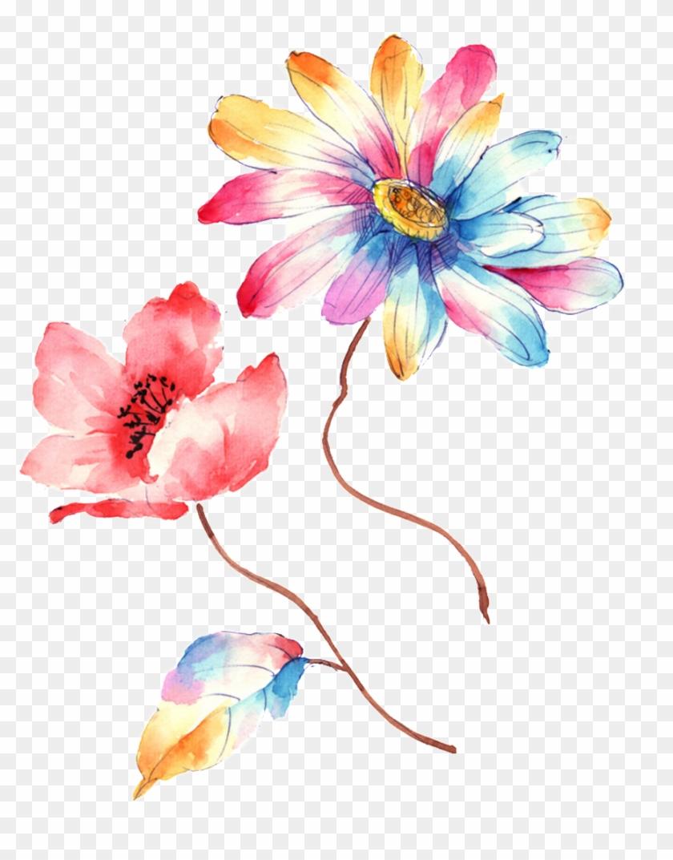 Colorful Gradient Hand Drawn Chrysanthemum Decorative - Artificial Flower Clipart #730896