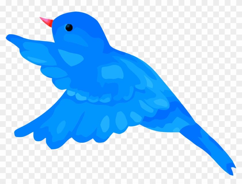 Blue Bird Clipart Mage Png - Blue Bird Flying Clipart Transparent Png #736867