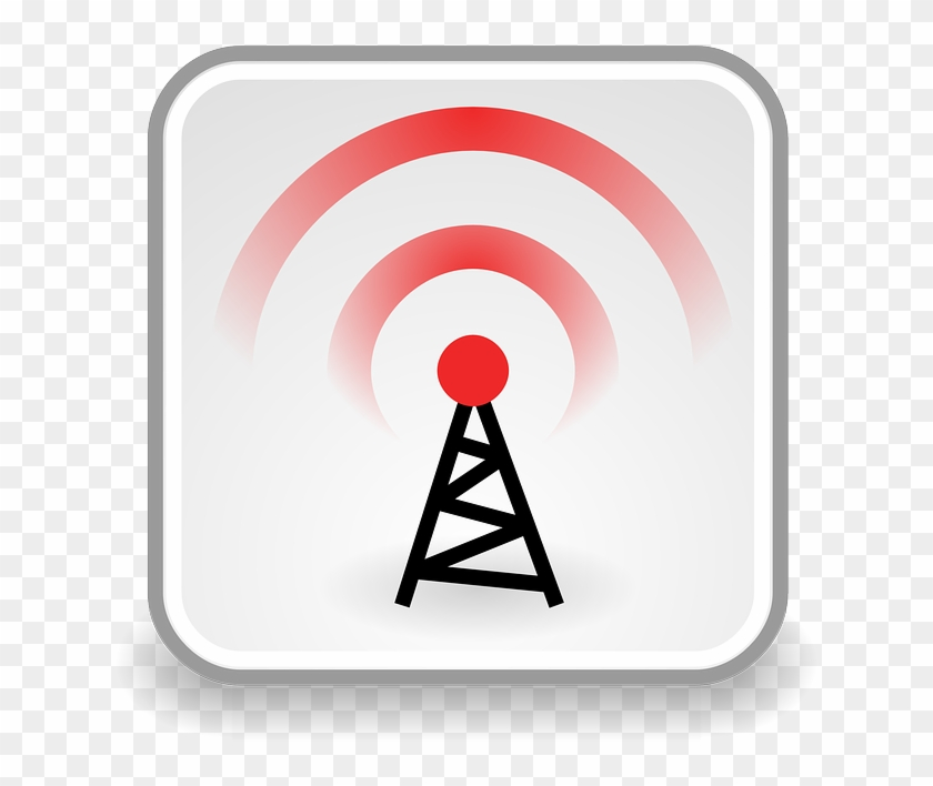 Radio, Waves - Wireless Symbol Clipart #742654