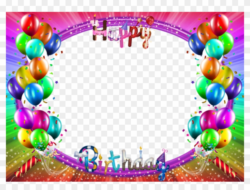 Best Stock Photos Happy Birthday Colorful Png Frame