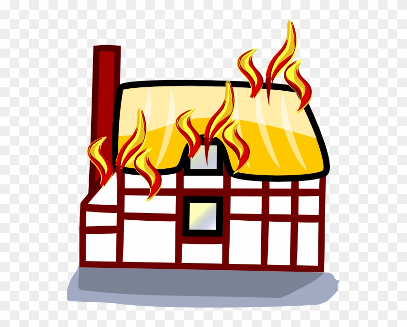 Edited Art Of House Fire Insurance - Animated House On Fire Clipart #747053