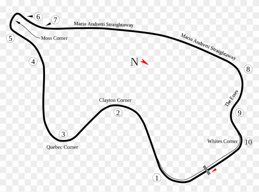 Open - Canadian Tire Motorsports Park Layout Clipart #750490