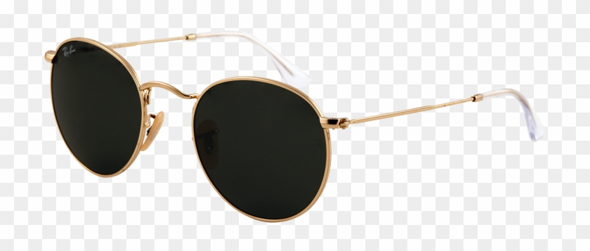 Rayban Round Sunglasses - Ray Ban Png Clipart #752006
