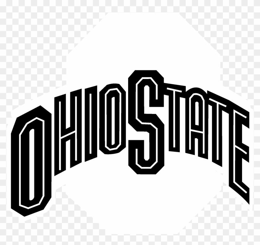 Ohio State Buckeyes Logo Black And White - Ohio State Logo Clipart #753104