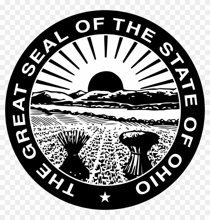 Vector Ohio Drawing - Great Seal Of Ohio Clipart #753835
