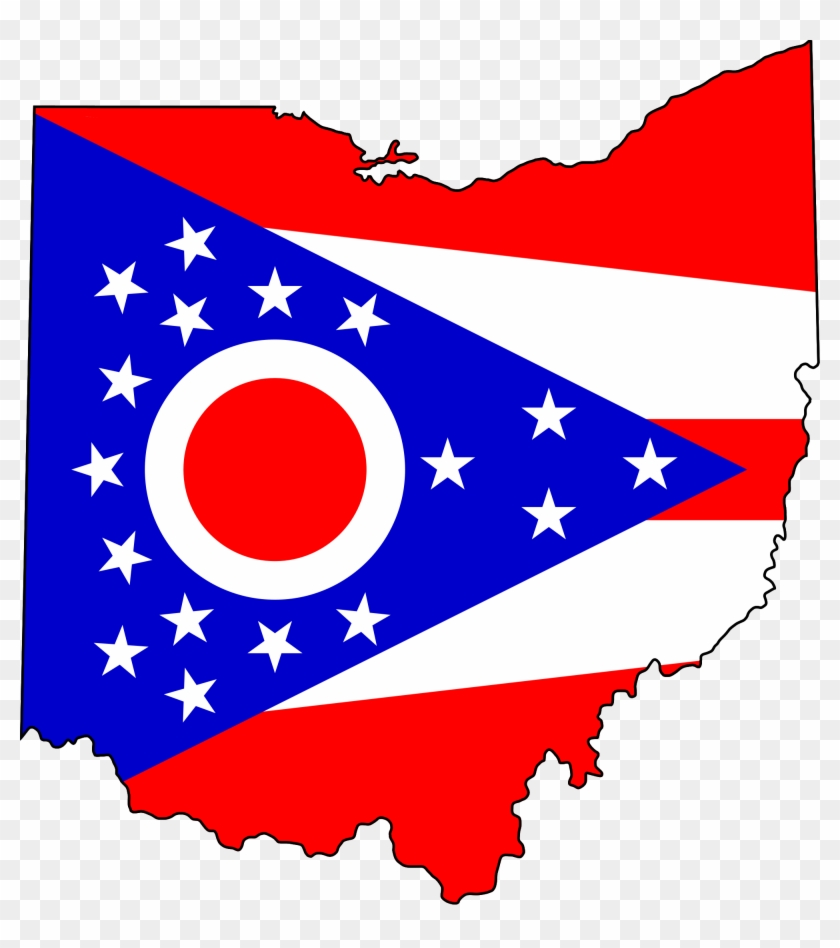 Ohio State Clip Art - Ohio State Flag Map - Png Download #753956