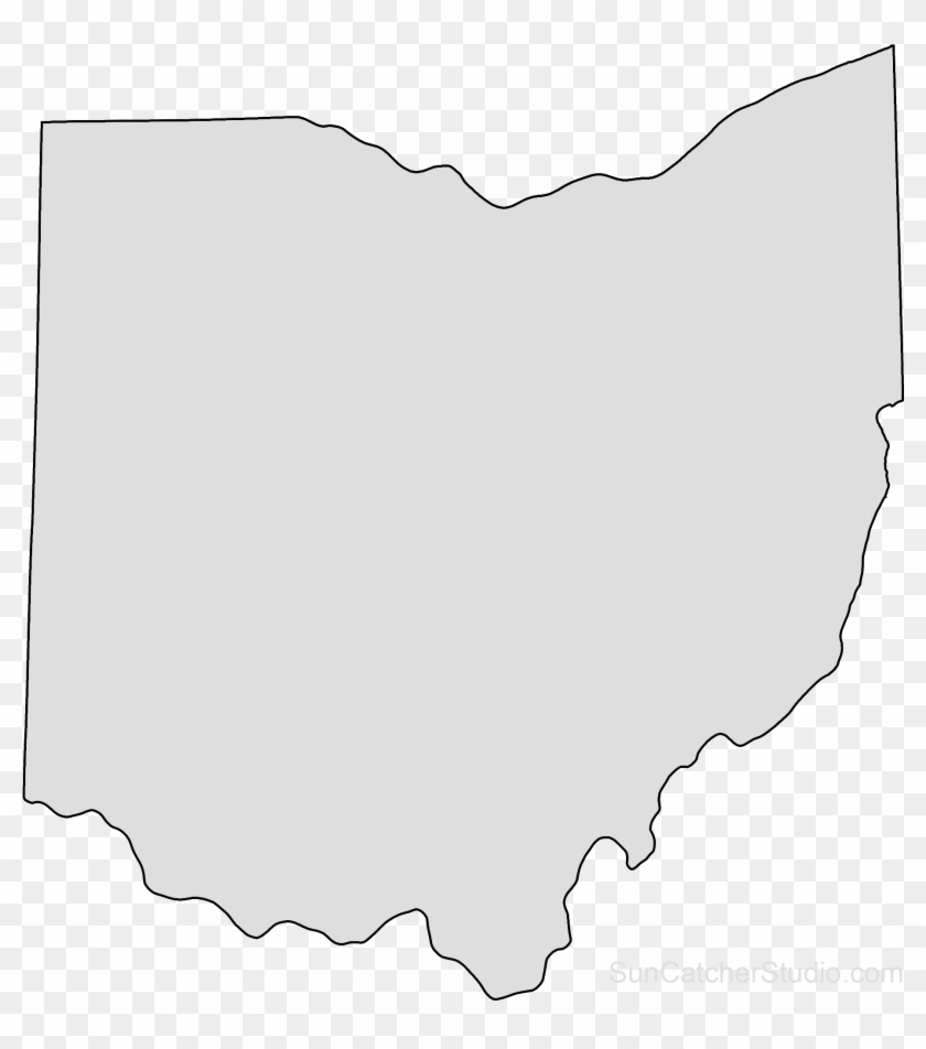 Map Outline Printable Shape Pattern Png Clip - Outline Ohio State Png Transparent Png #754408