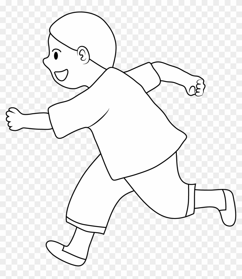 Boy - Walking Clipart Black And White Transparent - Png Download #757505
