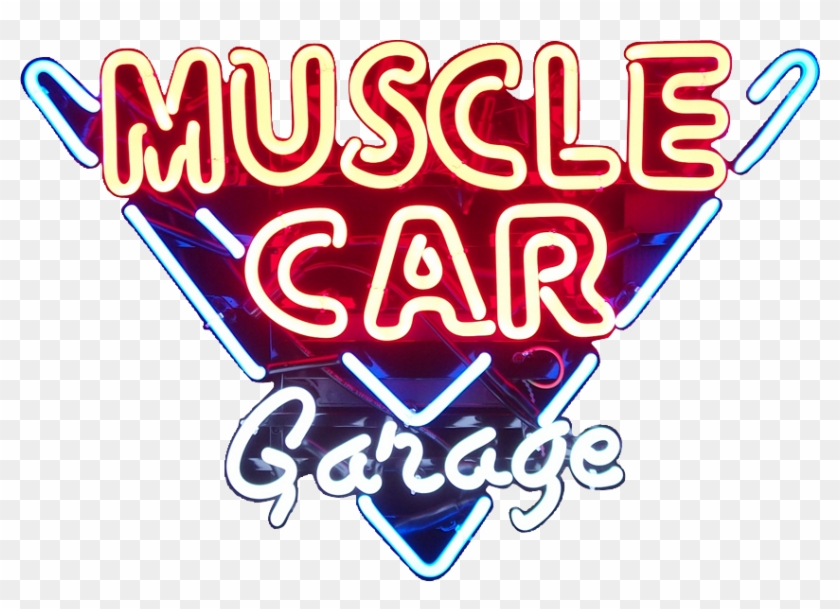 Muscle Car Garage Neon Sign - Muscle Car Garage Signs Clipart #760050