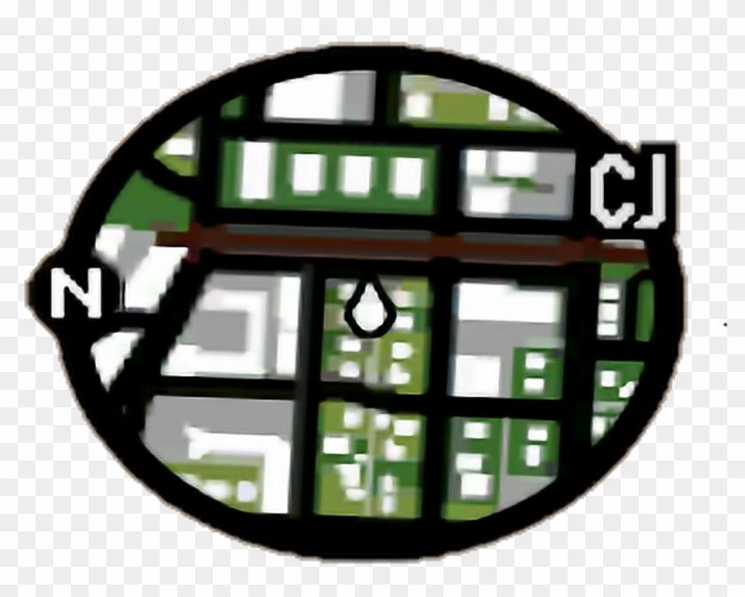 Gta Sticker - Gta San Andreas Radar Clipart #760229
