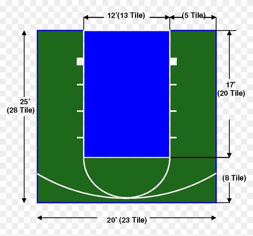 """20'x25' """"junior"""" Basketball Court - 20 X 25 Basketball Court Clipart #761275"""