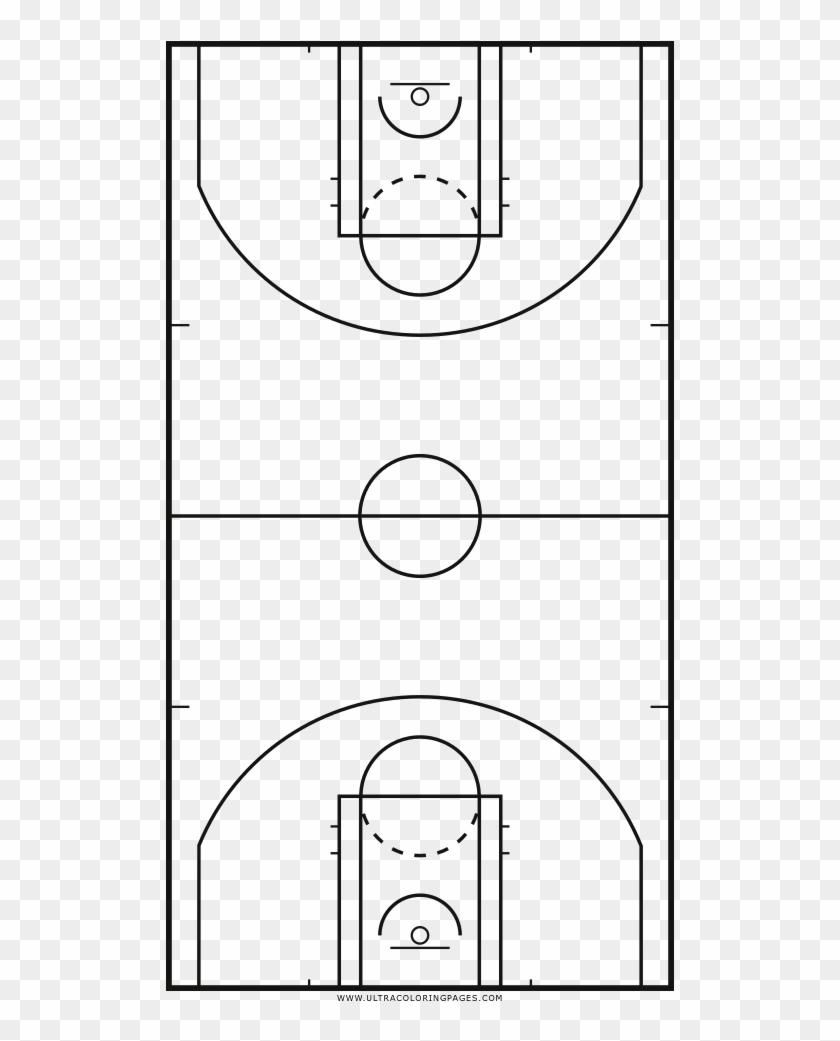 Basketball Court Coloring Page - Cancha De Basket Para ...