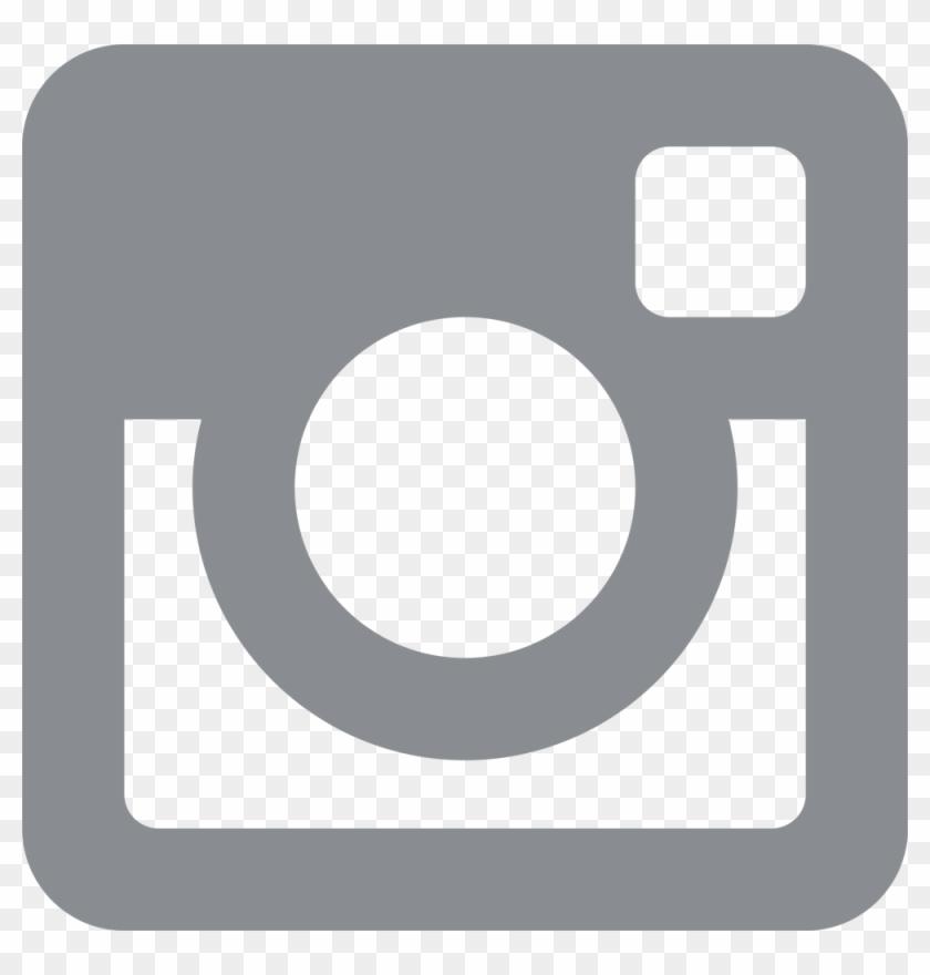 Dark Gray Instagram Icon Clipart #761435