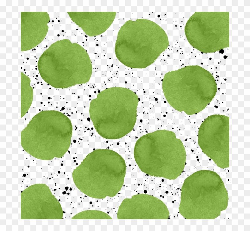Modern Green Watercolor Polka Dots Black Brushstrokes - 神奇 寶貝 戰鬥 圓 盤 Clipart #762796