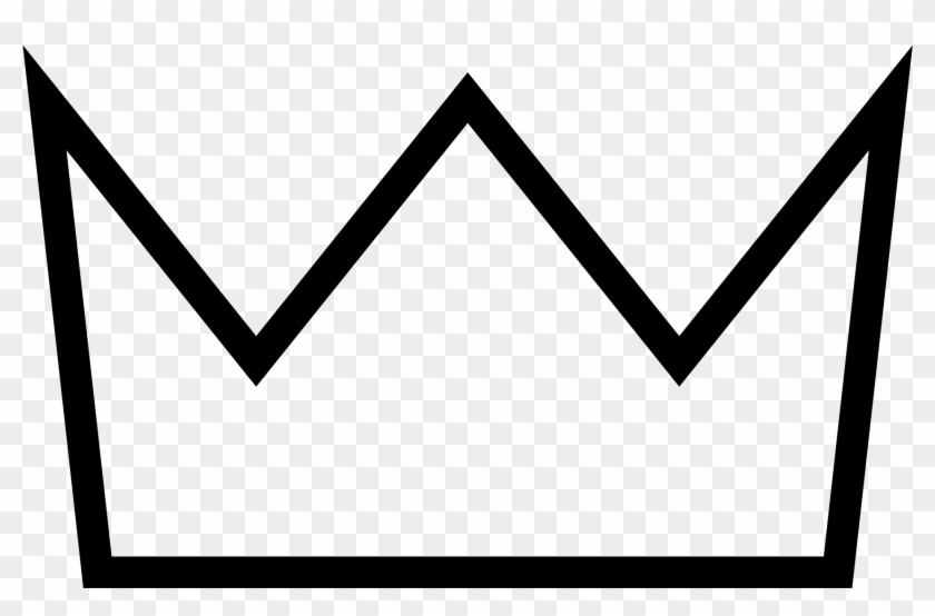 Crown Outline Png - Simple Crown Clipart Black And White Transparent Png #766119