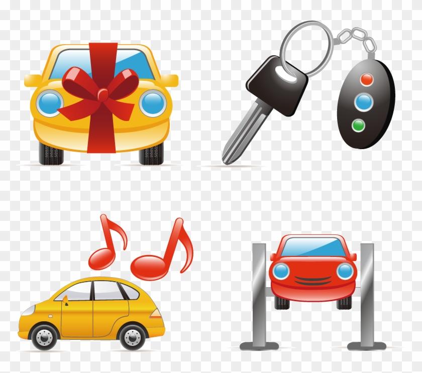 Cartoon Car Keys - Car Wash Icon Clipart #774269