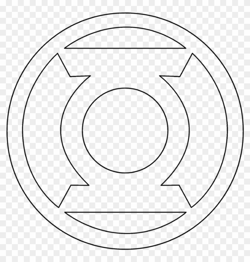 Green Lantern Symbol Coloring Pages With Corps Outline Superhero Logo Colouring Pages Clipart 774815 Pikpng