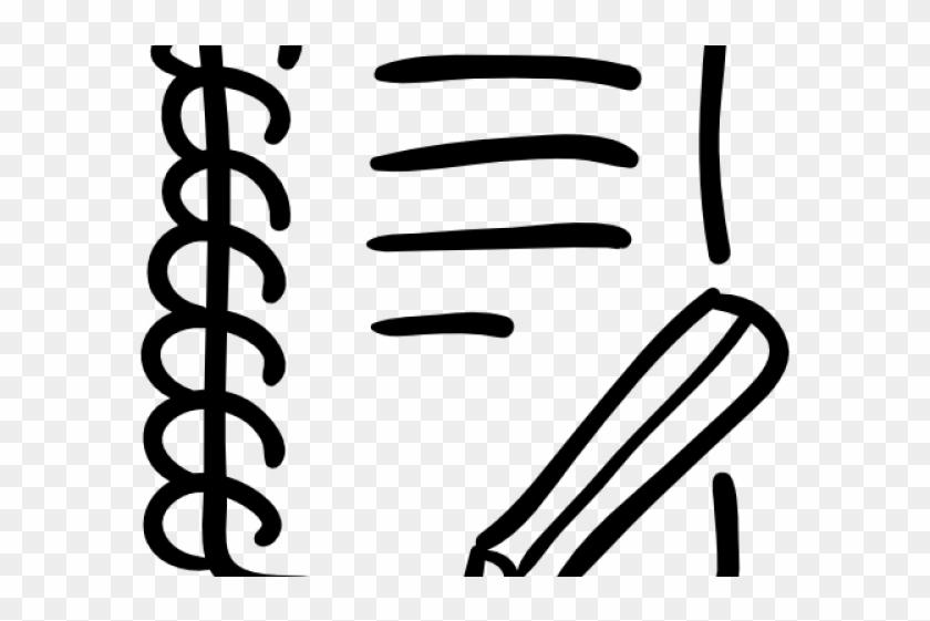 Drawn Pencil Icon - Hand Drawn Book Pencil Clipart #776674