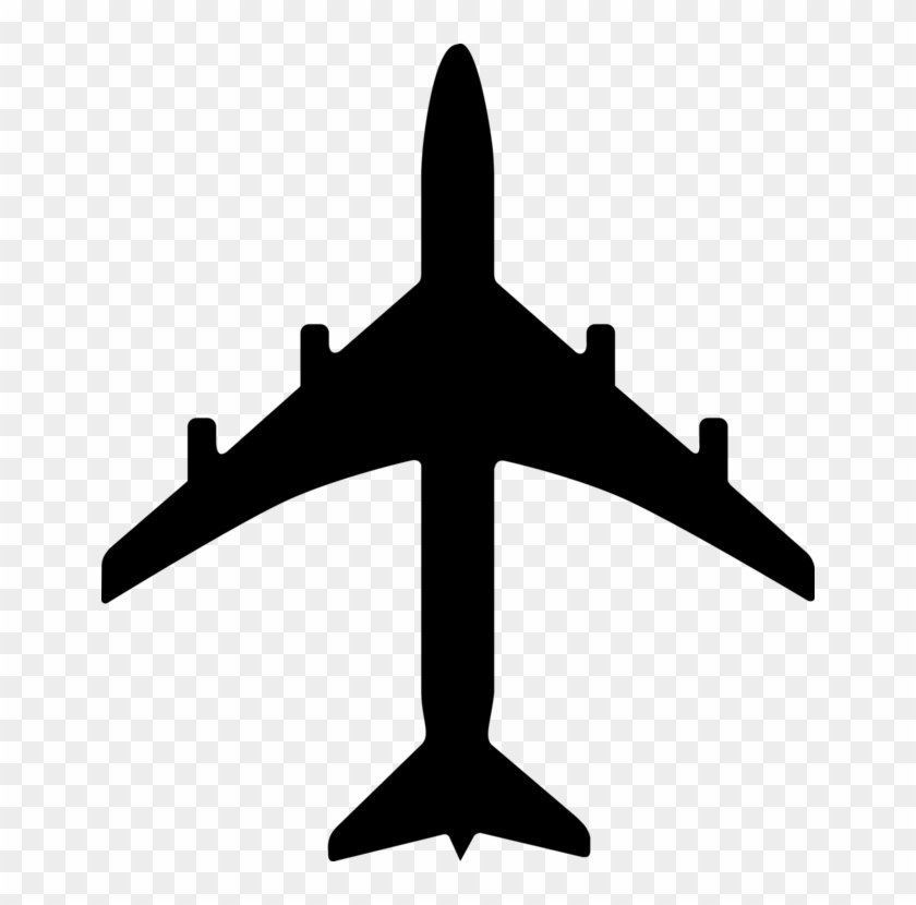Airplane Icon Vector Png Airplane Silhouette Clipart 776749