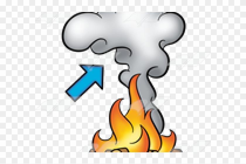 Smoke Effect Clipart Fire - Cartoon Fire And Smoke - Png Download #778916