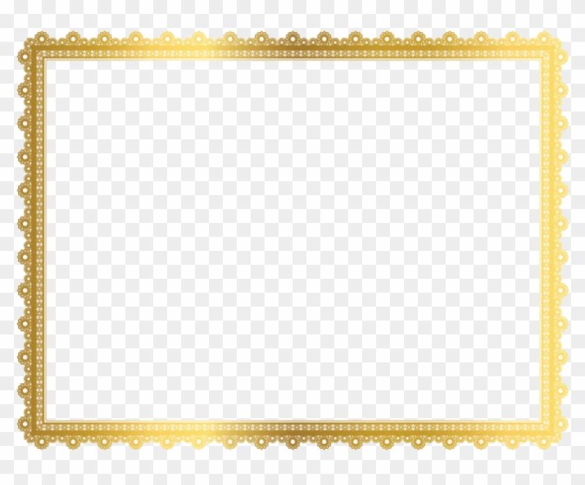 Gold Border Transparent Gold Border Transparent Art - Gold Certificate Border Transparent Clipart #786959