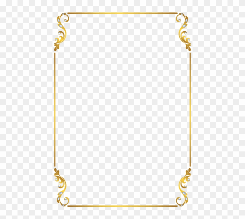 Free Png Download Border Frame Gold Clipart Png Photo - Gold Border Frame Png, Transparent Png #787401