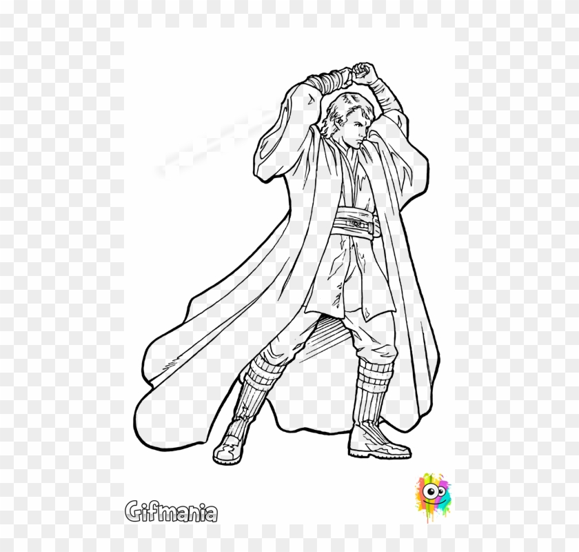 Anakin Skywalker Sith Star Wars Colouring Pages Anakin Clipart 787420 Pikpng