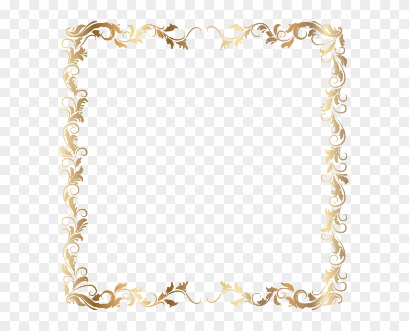 Border Deco Frame Gold Transparent Png Image - Gold Border With Transparent Background Clipart #787538