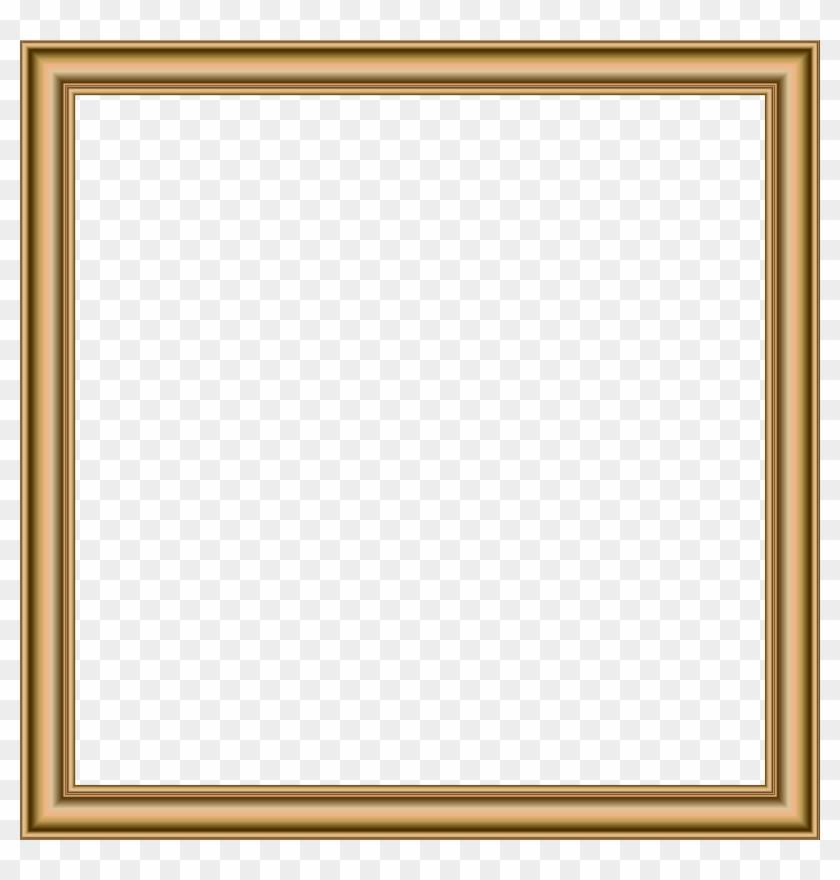 Gold Border Frame Transparent Png Image - Picture Frame Clipart #787595