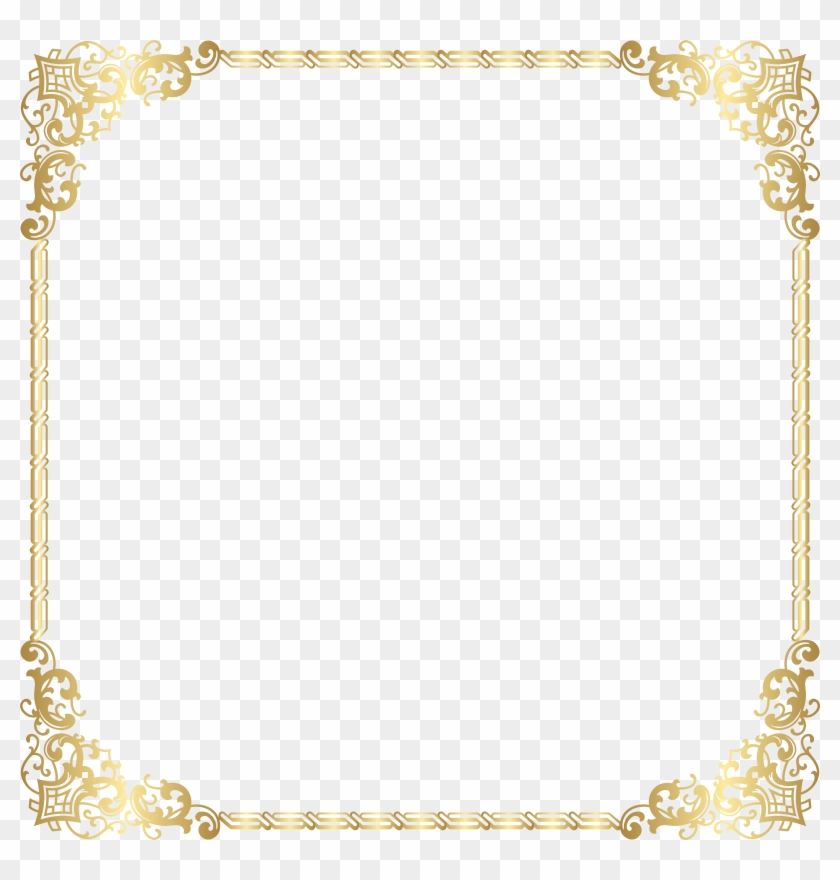 Gold Border Frame Transparent Png Clip Art Image #788113