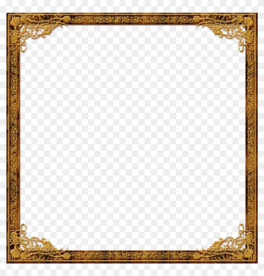 Gold Frame Borders Roses - Vintage Square Picture Frame Clipart #788602