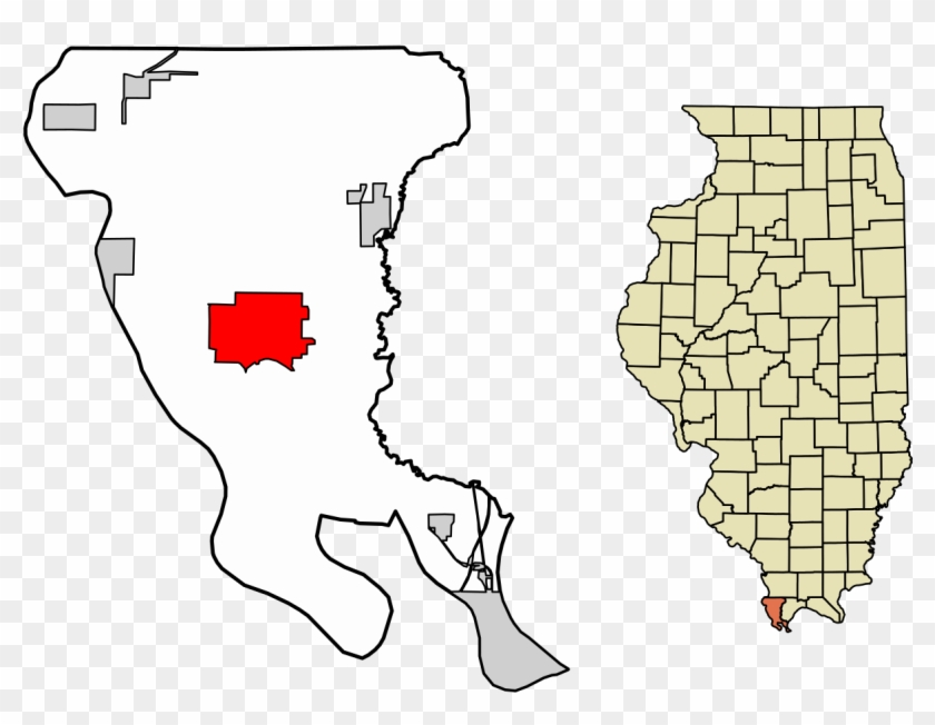 Alexander County Illinois Incorporated And Unincorporated - County Illinois Clipart #789577