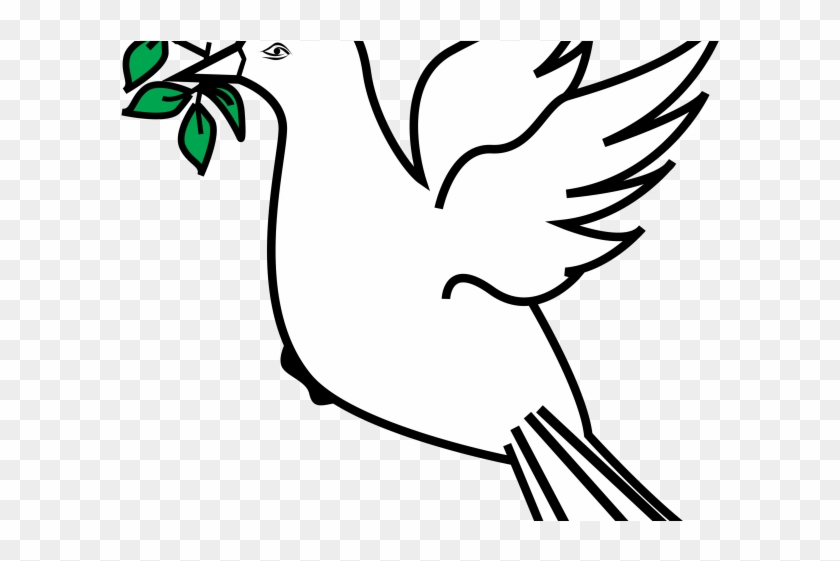 Dove With Olive Branch - Peace Symbol Olive Branch Clipart #790007