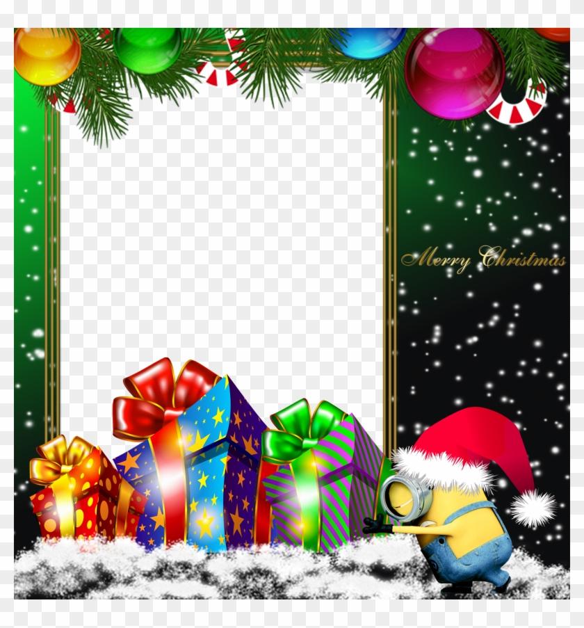 Tiptoe Clipart Christmas - Minion Christmas Frame - Png Download@pikpng.com