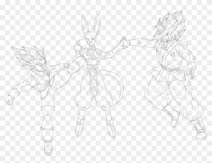Free Dragon Ball Super Coloring Page To Print And Color Line Art Clipart 792184 Pikpng