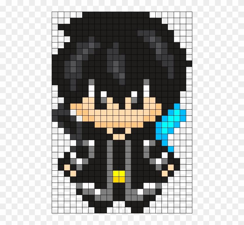 Kirito Sword Art Online Perler Bead Pattern Bead Anime