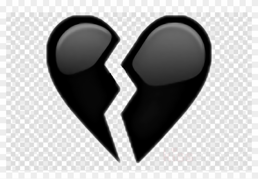 Black Broken Heart Emoji Clipart Emoji Broken Heart Png Iphone