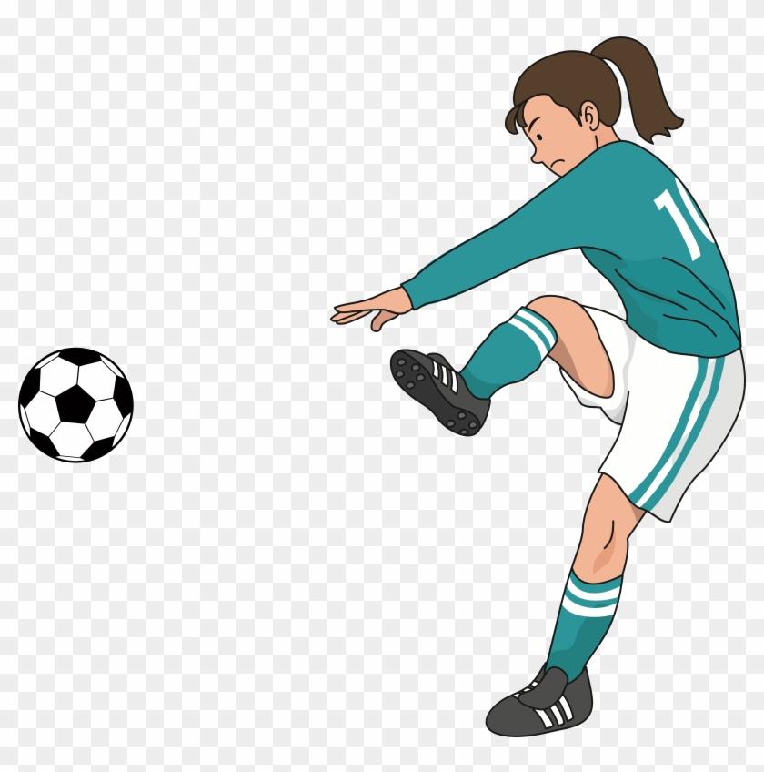 Football Player Tile Women's Association Football - Png Football Player Women Clipart #798214